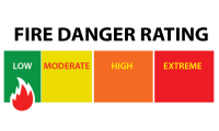 fire danger rating widget LOW
