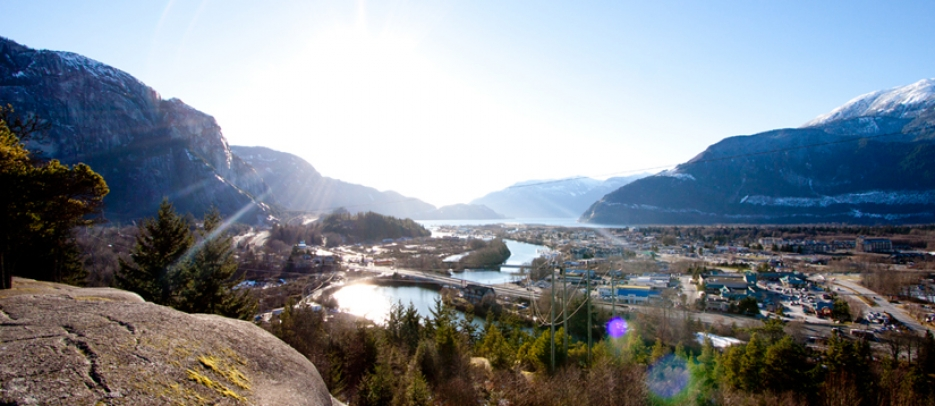 Smoke Bluffs overlooking downtown Squamish.