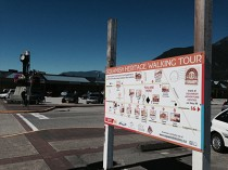Squamish Heritage Walking Tour map installed. July 2014