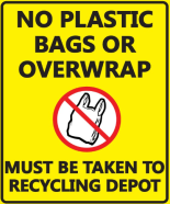 No Plastic Bags Sign Black PNG